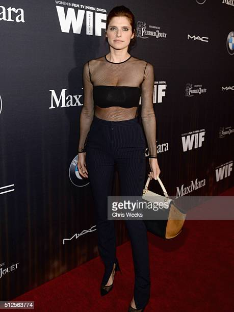 Actress Lake Bell in Max Mara attends Ninth Annual Women In Film PreOscar Cocktail Party Cohosted by PerrierJouët on February 26 2016 in West...