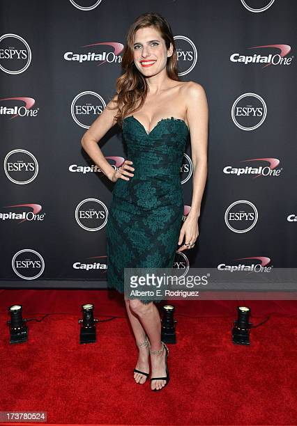 Actress Lake Bell poses backstage at The 2013 ESPY Awards at Nokia Theatre LA Live on July 17 2013 in Los Angeles California