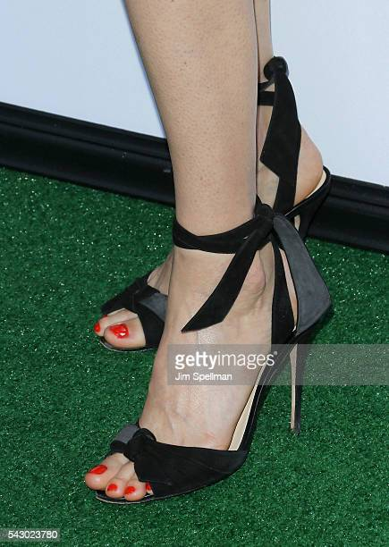 Actress Lake Bell shoe detail attends the 'Secret Life Of Pets' New York premiere on June 25 2016 in New York City
