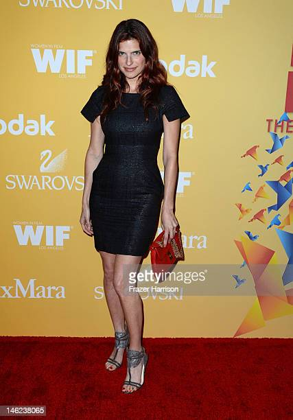 Actress Lake Bellarrives at the 2012 Women In Film Crystal Lucy Awards at The Beverly Hilton Hotel on June 12 2012 in Beverly Hills California
