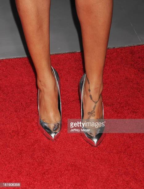 Actress LaLa Anthony at the Los Angeles premiere of 'Baggage Claim' at Regal Cinemas LA Live on September 25 2013 in Los Angeles California