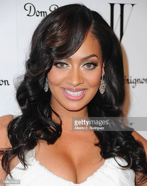 Actress LaLa Vasquez arrives to the W Magazine Golden Globe Awards party on January 14 2011 in West Hollywood California