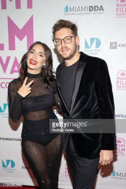 Actress Lali Esposito and director Gonzalo Tobal attend 'The Accused' premiere during the 2019 Miami Film Festival at Olympia Theatre on March 07...