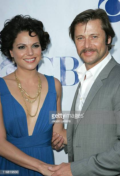 Actress Lana Parrilla and actor Grant Show attend the 'Swingtown' Premiere Summer Block Party at CBS Studio Center on May 20 2008 in Studio City...