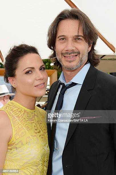 Actress Lana Parrilla and Fred Di Blasio attend the 2015 BAFTA Los Angeles TV Tea at SLS Hotel on September 19 2015 in Beverly Hills California