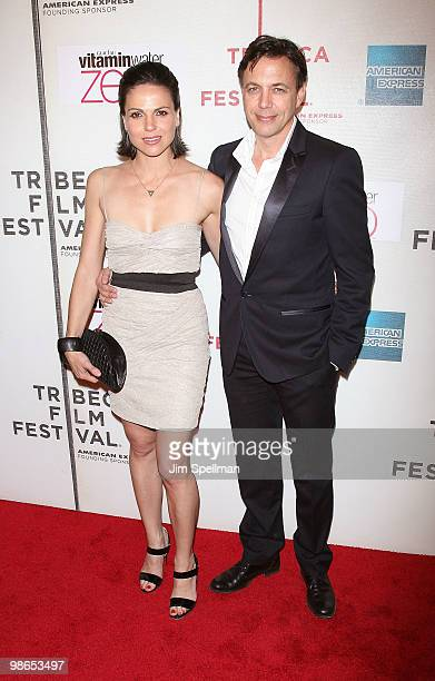 Actress Lana Parrilla and Producer Matthew Leutwyler attend the 'Every Day' premiere during the 9th Annual Tribeca Film Festival at the Tribeca...