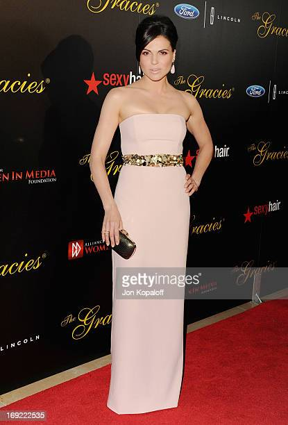 Actress Lana Parrilla arrives 38th Annual Gracie Awards Gala at The Beverly Hilton Hotel on May 21 2013 in Beverly Hills California