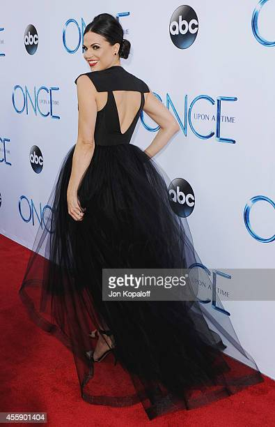 Actress Lana Parrilla arrives at ABC's Once Upon A Time Season 4 Red Carpet Premiere at the El Capitan Theatre on September 21 2014 in Hollywood...