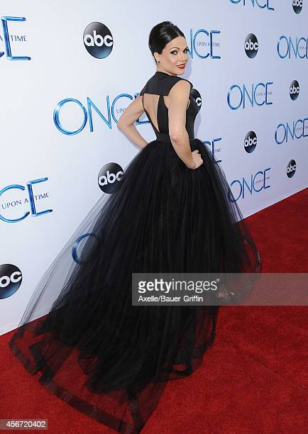 Actress Lana Parrilla arrives at ABC's 'Once Upon A Time' Season 4 Red Carpet Premiere at the El Capitan Theatre on September 21 2014 in Hollywood...