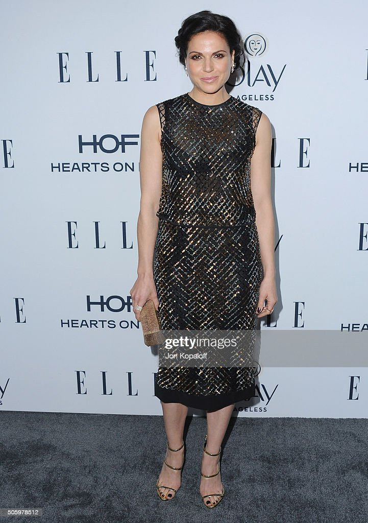 Actress Lana Parrilla arrives at ELLE's 6th Annual Women In Television Dinner at Sunset Tower Hotel on January 20, 2016 in West Hollywood, California.