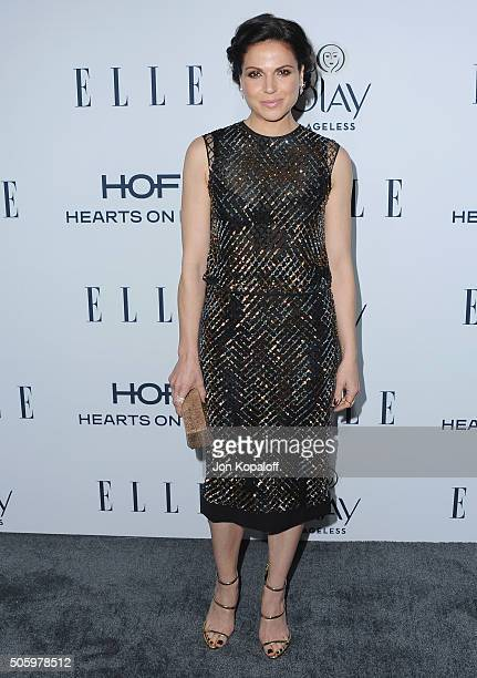 Actress Lana Parrilla arrives at ELLE's 6th Annual Women In Television Dinner at Sunset Tower Hotel on January 20 2016 in West Hollywood California