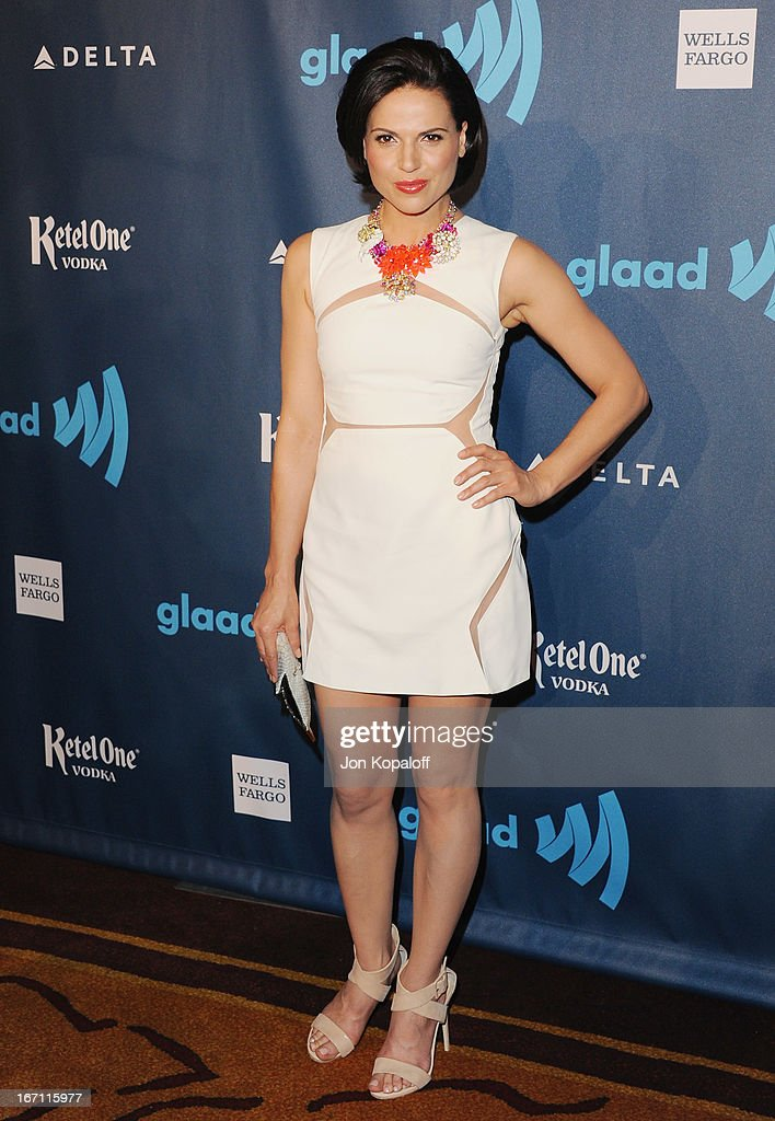 Actress Lana Parrilla arrives at the 24th Annual GLAAD Media Awards at JW Marriott Los Angeles at L.A. LIVE on April 20, 2013 in Los Angeles, California.