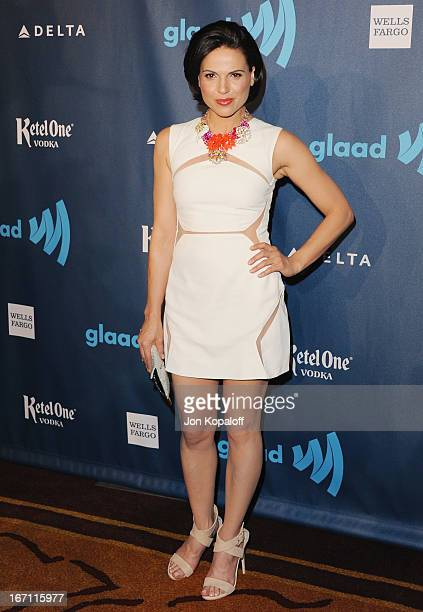 Actress Lana Parrilla arrives at the 24th Annual GLAAD Media Awards at JW Marriott Los Angeles at LA LIVE on April 20 2013 in Los Angeles California