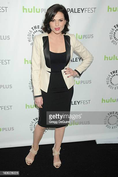 Actress Lana Parrilla arrives at the 30th Annual PaleyFest The William S Paley Television Festival featuring 'Once Upon A Time' at Saban Theatre on...