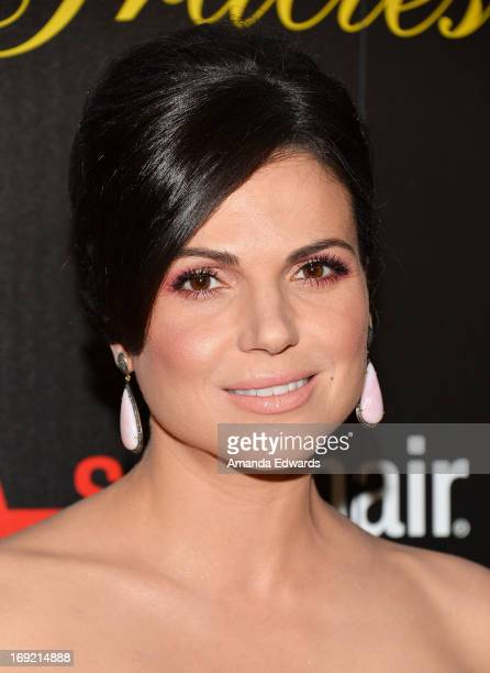Actress Lana Parrilla arrives at the 38th Annual Gracie Awards Gala at The Beverly Hilton Hotel on May 21 2013 in Beverly Hills California