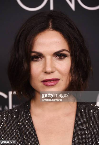 Actress Lana Parrilla arrives at the 'Once Upon A Time' finale screening at The London West Hollywood at Beverly Hills on May 8 2018 in West...