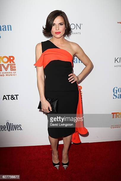 Actress Lana Parrilla arrives at the TrevorLIVE Los Angeles 2016 Fundraiser at The Beverly Hilton Hotel on December 4 2016 in Beverly Hills California