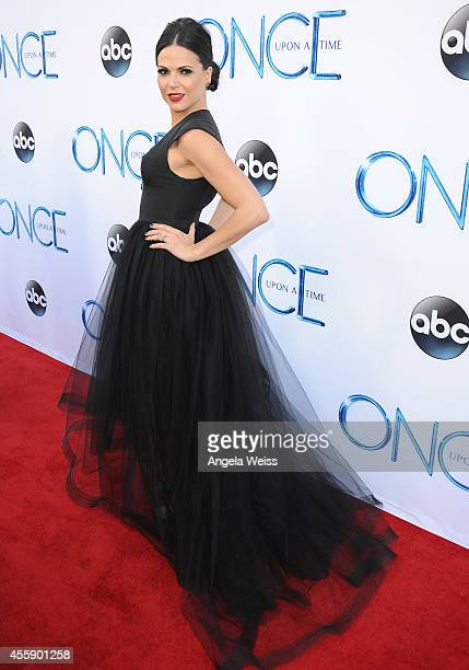 Actress Lana Parrilla attends ABC's Once Upon A Time Season 4 red carpet premiere at the El Capitan Theatre on September 21 2014 in Hollywood...