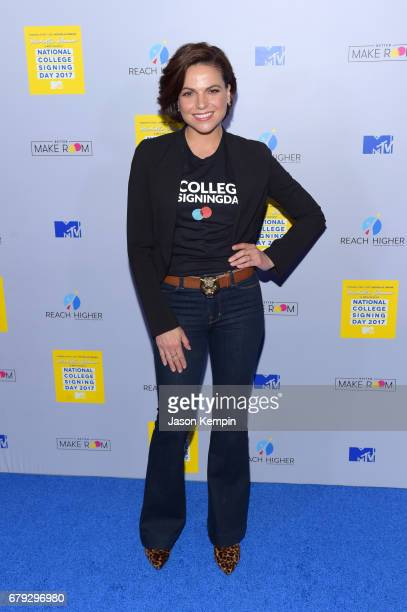 Actress Lana Parrilla attends the MTV's 2017 College Signing Day With Michelle Obama at The Public Theater on May 5, 2017 in New York City.