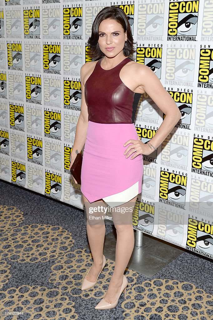 Actress Lana Parrilla attends the 'Once Upon a Time' press line during Comic-Con International 2013 at the Hilton San Diego Bayfront Hotel on July 20, 2013 in San Diego, California.
