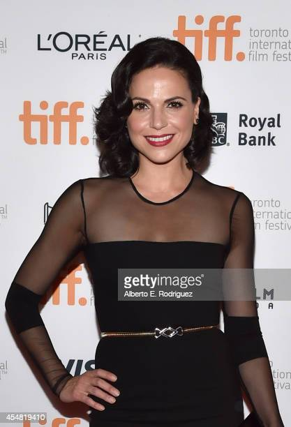Actress Lana Parrilla attends the 'Top Five' premiere during the 2014 Toronto International Film Festival at Princess of Wales Theatre on September 6...