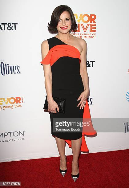 Actress Lana Parrilla attends The Trevor Project's 2016 TrevorLIVE LA at The Beverly Hilton Hotel on December 4 2016 in Beverly Hills California