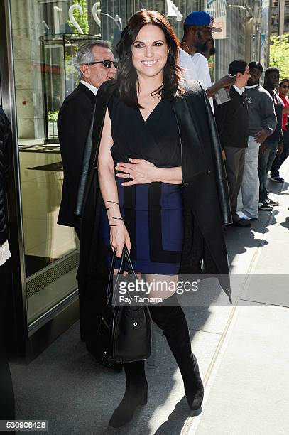 Actress Lana Parrilla enters the Sirius XM Studios on May 11 2016 in New York City