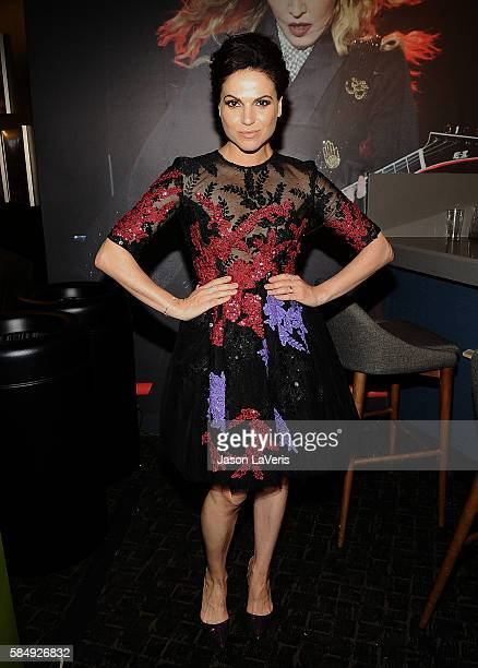 Actress Lana Parrilla poses in the green room at the 2016 Teen Choice Awards at The Forum on July 31 2016 in Inglewood California