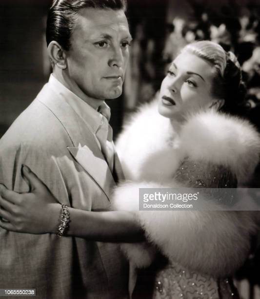 "Actress Lana Turner and Kirk Douglas in a scene from the movie ""The Bad and the Beautiful""."