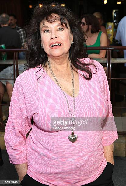 Actress Lana Wood arrives at the opening ceremony of Las Vegas Car Stars at the Fremont Street Experience on May 17 2013 in Las Vegas Nevada