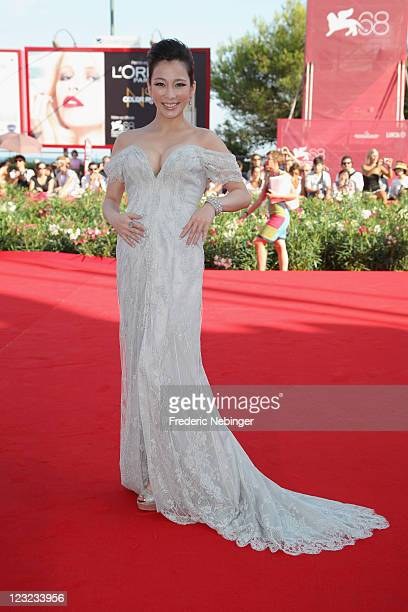 Actress Landy Wen attends the Warriors Of The Rainbow Seediq Bale premiere at the Palazzo Del Cinema during the 68th Venice Film Festival on...
