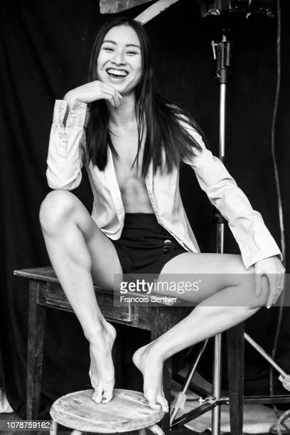 Actress Lang Khe Tran poses for a portrait on December 2018 in Paris France