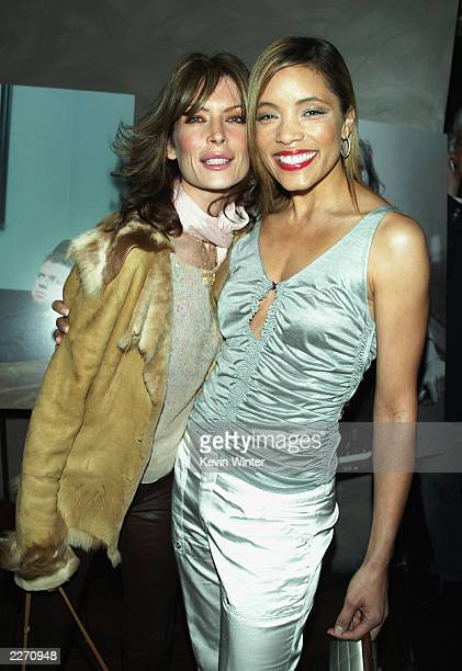 Actress Lara Flynn Boyle and Michael Michele arrive at Premiere Magazine's The New Power celebrating Hollywood power players under 35 at Ivar on May...