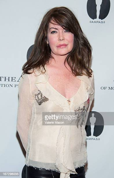 Actress Lara Flynn Boyle attends Academy Of Motion Picture Arts And Sciences Hosts A Wayne's World Reunion at AMPAS Samuel Goldwyn Theater on April...