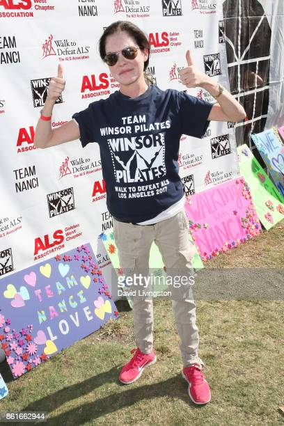 Actress Lara Flynn Boyle attends Nanci Ryder's 'Team Nanci' at the 15th Annual LA County Walk to Defeat ALS at the Exposition Park on October 15 2017...