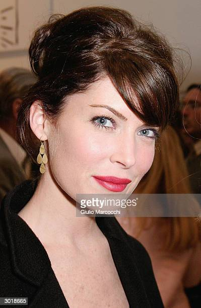 Actress Lara Flynn Boyle attends the opening reception of Andy Warhol and Helmut Newton's work February 26 2004 at Gagosian Gallery in Beverly Hills...