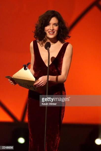 Actress Lara Flynn Boyle presents at The Ninth Annual ESPY Awards at the MGM Grand Hotel in Las Vegas NV Monday Feb12 2001
