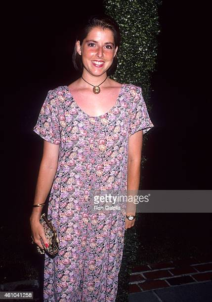 Actress Lara Jill Miller attends the Second Annual 'Boathouse Rock' Dance Party to Benefit amfAR on June 28 1993 at the Central Park Boathouse in New...