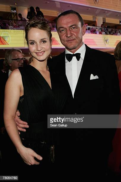 Actress Lara Joy Koerner and her husband Heiner Pollert attend the 34th annual German Film Ball at the Bayerischer Hof Hotel January 20 2007 in...