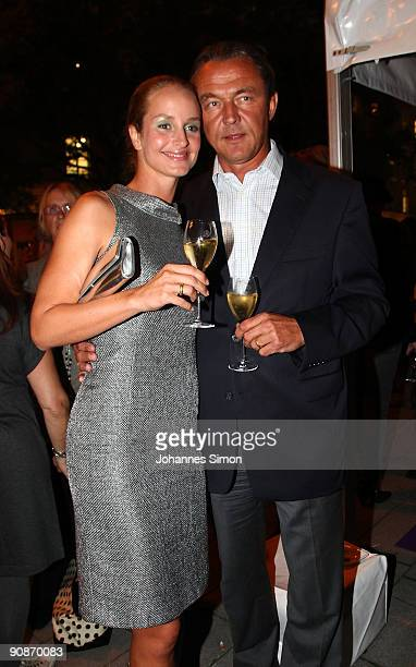Actress Lara Joy Koerner and husband Heiner Pollert attend for the Guido Maria Kretschmer Shop Opening on September 16 2009 in Munich Germany
