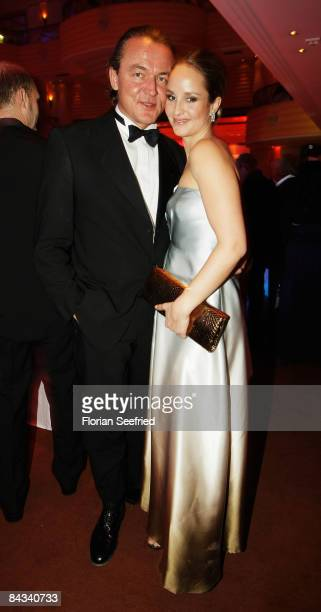 Actress Lara Joy Koerner and husband Heiner Pollert attend the 36th German Film Ball 2009 at the Hotel Bayerischer Hof on January 17 2009 in Munich...