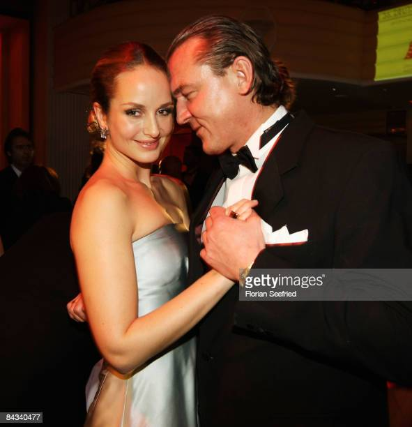 Actress Lara Joy Koerner and husband Heiner Pollert dance at the 36th German Film Ball 2009 at the Hotel Bayerischer Hof on January 17 2009 in Munich...