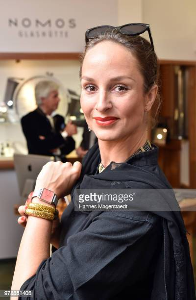 Actress Lara Joy Koerner attends the launch event for watchmaking company NOMOS Glashuette at Juweler Hilscher on June 19 2018 in Munich Germany