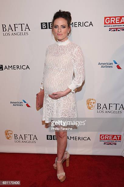 Actress Lara Pulver attends The BAFTA Tea Party at Four Seasons Hotel Los Angeles at Beverly Hills on January 7 2017 in Los Angeles California