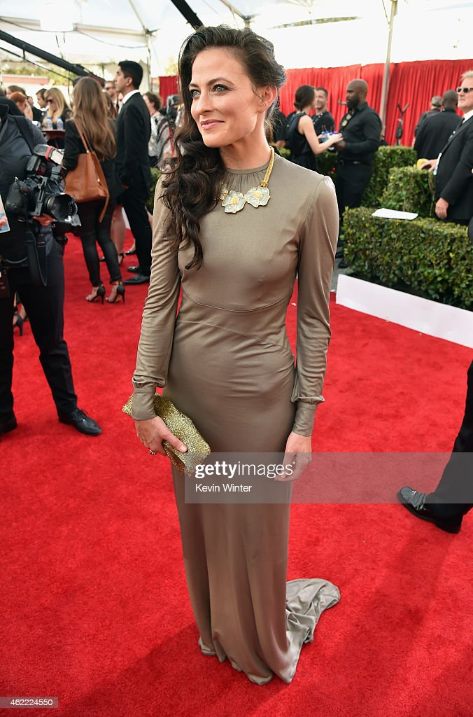 Actress Lara Pulver attends TNT's 21st Annual Screen Actors Guild Awards at The Shrine Auditorium on January 25, 2015 in Los Angeles, California. 25184_017