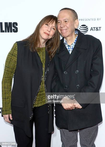 Actress Laraine Newman and comedian Gilbert Gottfried attend the 2018 Tribeca Film Festival opening night premiere of Love Gilda at Beacon Theatre on...