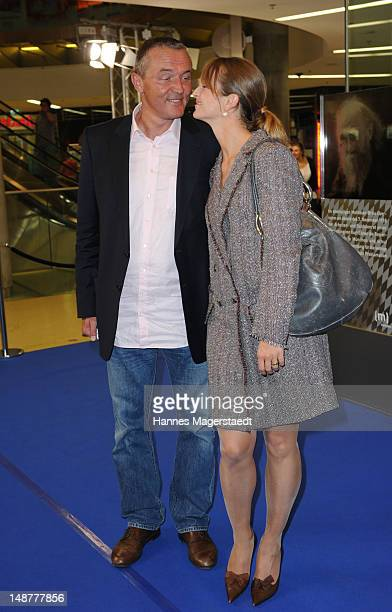 Actress LaraJoy Koerner and her husband Heiner Pollert attend the 'Bavaria' Germany Premiere at the Mathaeser Filmpalast on July 19 2012 in Munich...