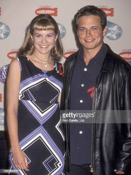 Actress Larisa Oleynik and Actor Scott Wolf attend the 10th Annual Nickelodeon's Kids' Choice Awards on April 19 1997 at Olympic Auditorium in Los...