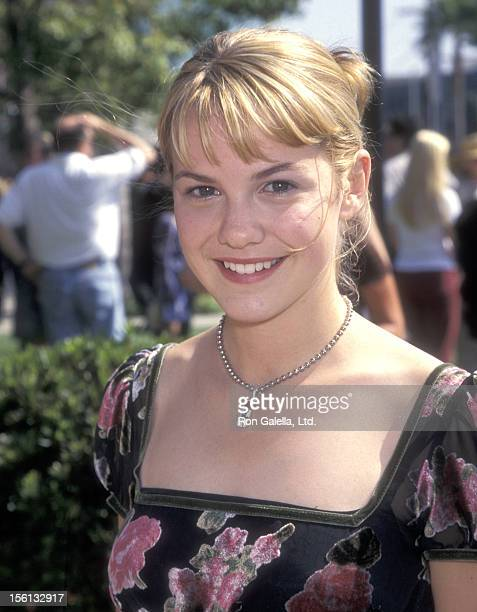 Actress Larisa Oleynik attends the 'Good Burger' Hollywood Premiere on July 19 1997 at Paramount Theater in Hollywood California