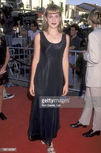 Actress Larisa Oleynik attends the 'Wild America' Westwood Premiere on June 30 1997 at Mann Village Theatre in Westwood California